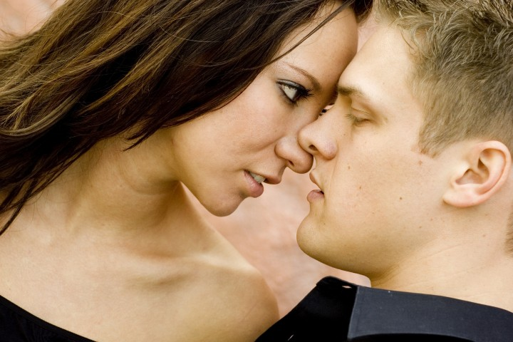 Young sexy white hetro couple in love
