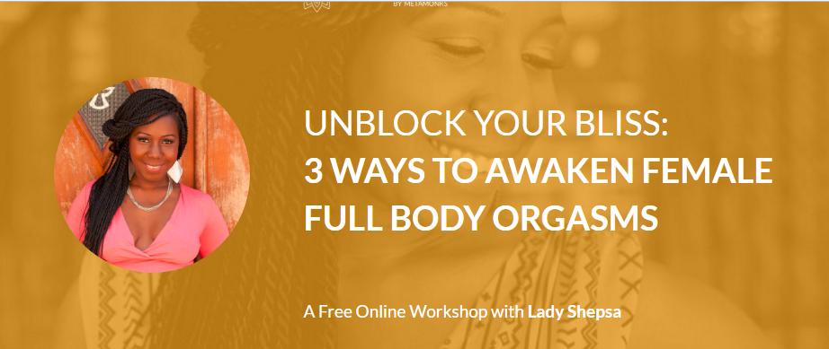 Female full body orgasm